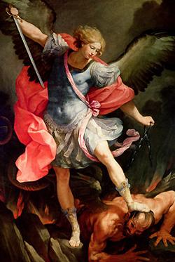 Astrál 2 (Archangel Michael defeating Satan) (250x373)
